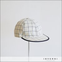 inverni(インヴェルニ)コットンキャップ 3V3249 1001 ホワイト
