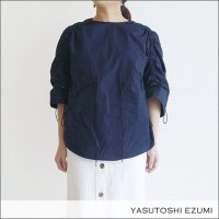 YASUTOSHI EZUMI(ヤストシエズミ)ドローストリングトップス SS18TP04 Navy