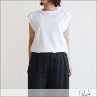 TELA(テラ)フレンチスリーブパッドカットソー TETTO/UNITO WHITE
