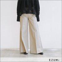 EZUMi(エズミ)コットンワイドパンツ YEAW18PA01 BEIGE