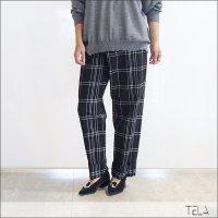 TELA(テラ) テーパードチェックパンツ EIGHTEEN/CHECK