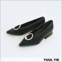 YUUL YIE (ユル・イエ) ベルベットパンプス KHAKI