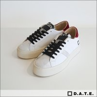 D.A.T.E.(デイト)レザースニーカー VERTIGO CALF WHITE/RED