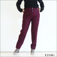 EZUMi(エズミ)フロントボタンテーパードパンツ AW18PA02 PURPLE
