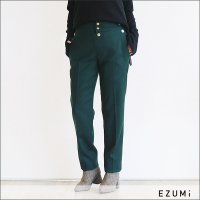 EZUMi(エズミ)フロントボタンテーパードパンツ AW18PA02 GREEN