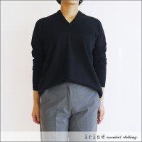 irise(イリゼ)カシミアVネックセーター K21053 ブラック