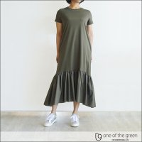one of the green カットソーワンピース 07C0217 KHAKI