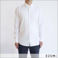 EZUMi MEN ピンタックシャツブラウス EMAW19SH01 ホワイト