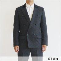 EZUMi MEN 6ボタンダブルジャケット EMAW19JK01 チャコール