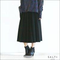 SALT+ Aラインプリーツスカート 423303 12Black