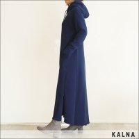 KALNA(カルナ)裏毛ロングワンピース 4A10101 NAVY