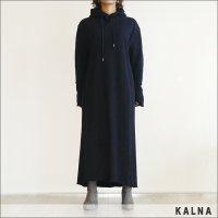 KALNA(カルナ)裏毛ロングワンピース 4A10101 BLACK