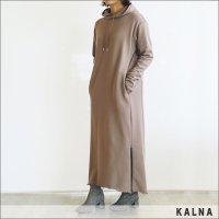 KALNA(カルナ)裏毛ロングワンピース 4A10101 BEIGE