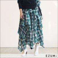 EZUMi(エズミ) チェックレイヤースカート YESS20SK02C GREEN