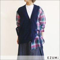EZUMi(エズミ) チェックレイヤーニットカーディガン YESS20kt02 NAVY
