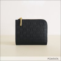 POMTATA(ポンタタ) 「KA」L字ジップショートウォレット P2068 BLACK