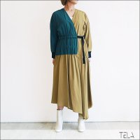 TELA(テラ) アシンメトリーワンピース FALK CAMEL/GREEN