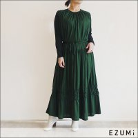 <img class='new_mark_img1' src='https://img.shop-pro.jp/img/new/icons15.gif' style='border:none;display:inline;margin:0px;padding:0px;width:auto;' />EZUMi(エズミ) ギャザーティアードワンピース YESS21CS03 グリーン