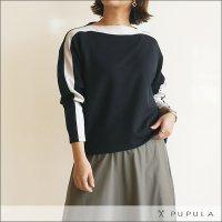 PUPULA(ププラ) ライントップス 316020 05 ブラック