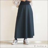 PUPULA(ププラ) フレアスカート 316017 60 グリーン