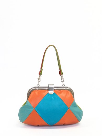 Turquoise & Orange Lether combi