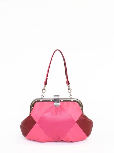 Pink Red Leather combi
