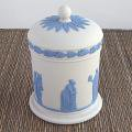 Wedgwood /ウェジウッドジャスパー/ホワイトシガレットジャー              <img class='new_mark_img2' src='https://img.shop-pro.jp/img/new/icons48.gif' style='border:none;display:inline;margin:0px;padding:0px;width:auto;' />