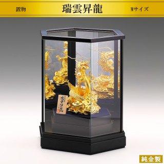 純金製置物 瑞雲昇龍 高さ14cm Mサイズ