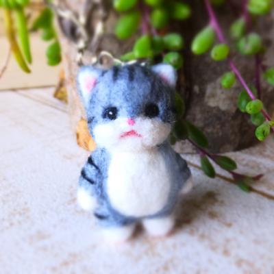 猫さんバッグチャーム(白+サバトラ)