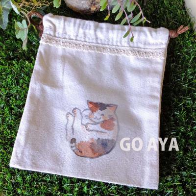 猫の巾着(お休みミケ)