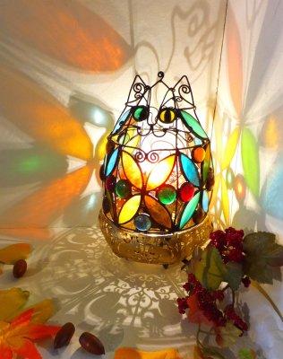 【M様ご予約】どんぐり猫のランプ