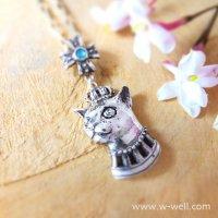 王子猫のネックレス(クリソプレーズ)