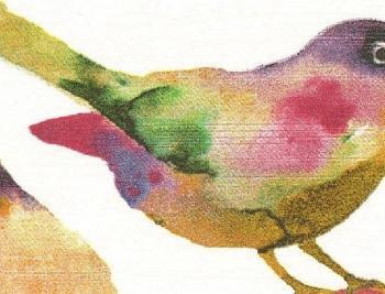 送料無料 鳥 植物 柄 新品 オーダー カーテン用 高級生地