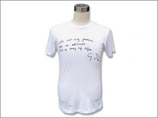 GABORATORY (ガボラトリー/ガボール) フリーハンド G&クラウン w/メッセージ Tシャツ /ホワイト
