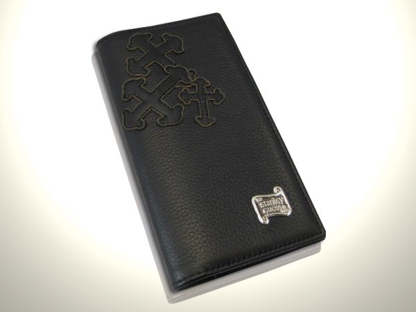 SG-LEATHER Book Cover w/ Guns Cross Leather Patch