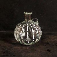 イランの手吹きガラス ミニボトル(白ドット)