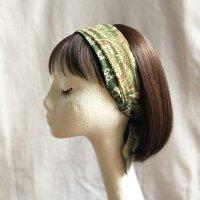 ヒジャブのヘアスカーフ  green/orange/beige