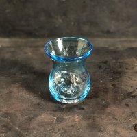 イランの手吹きチャイグラス セルリアンブルー