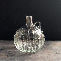 イランの手吹きガラス ミニボトル(クリアドット)