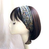 ヒジャブのヘアスカーフ  green/blue/beige