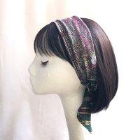 ヒジャブのヘアスカーフ pink/gray/green