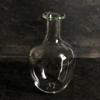 イランの手吹きガラス フラスコボトル