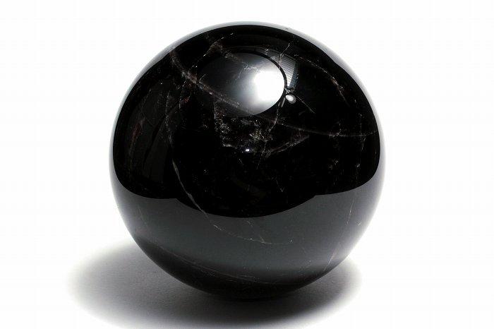 モリオン(黒水晶)丸玉【118mm】【XLサイズ】【天眼】 MOBAXL-007