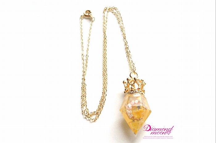 ダイヤモンドムーンオルゴナイトペンダ...
