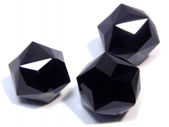 モリオン(黒水晶)カットボール【60面体カット】MOCTB-001
