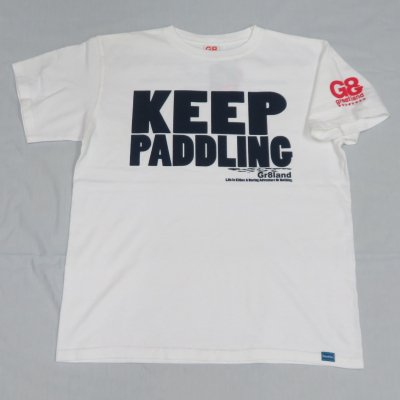 KEEP PADDLING TEE カラー:WHT/NAVY