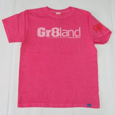 CLASSIC GR8LAND LOG TEE カラー:P.CHERRY/WHT