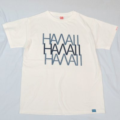 3HAWAII TEE カラー:BODY:WHT PRINT:NAVY