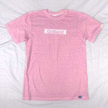 GR8LAND BAR LOGO TEE カラー:BODY:P.PINK PRINT:WHT