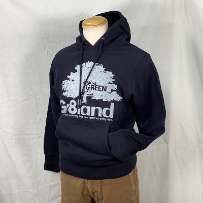 MORE GREEN P/O HOOD SW カラー:NAVY
